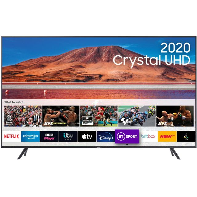 "Samsung UE55TU7100 55"" Smart 4K Ultra HD TV - Carbon Silver - UE55TU7100 - 1"