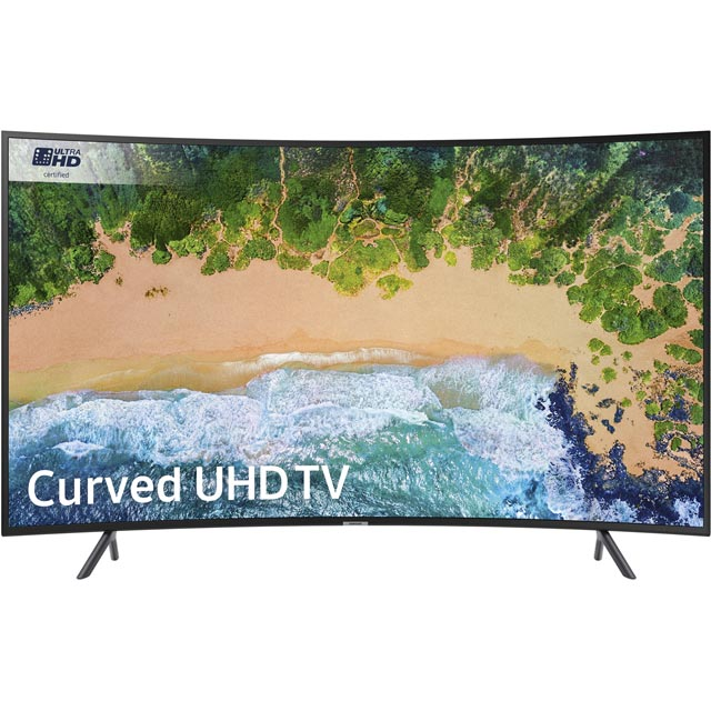 "Samsung UE55NU7300 55"" Smart 4K Ultra HD Curved TV - Charcoal Black - UE55NU7300 - 1"