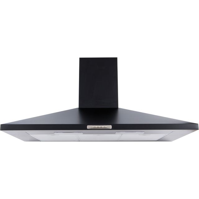 Belling Unbranded UH100B Built In Chimney Cooker Hood - Black - UH100B_BK - 1
