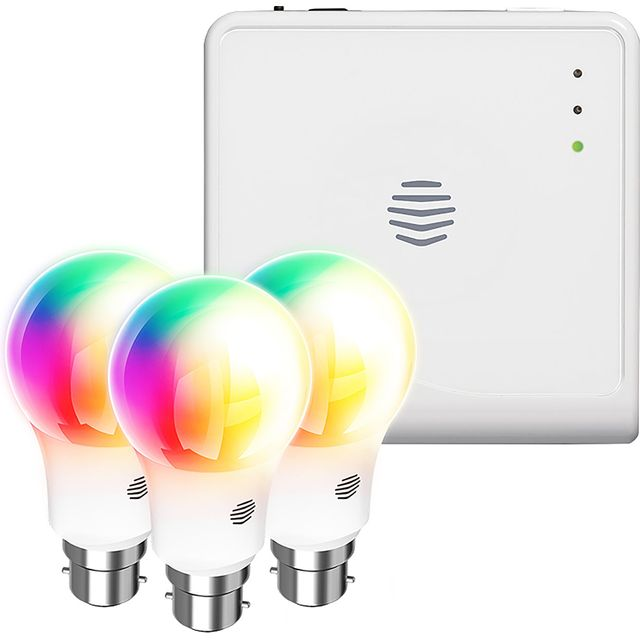 Hive Smart Light Colour Changing Triple Pack B22 And Hub - A+ Rated - UK7003236 - 1