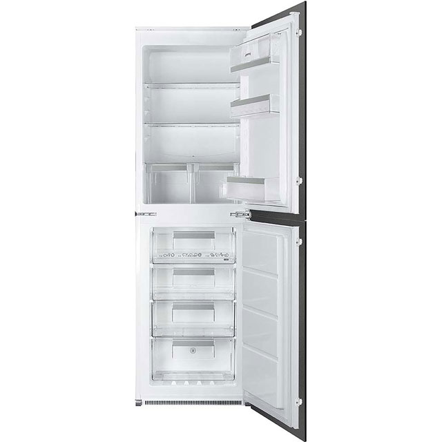Smeg UKC7172NP1 Integrated 70/30 Frost Free Fridge Freezer with Sliding Door Fixing Kit - White - A+ Rated