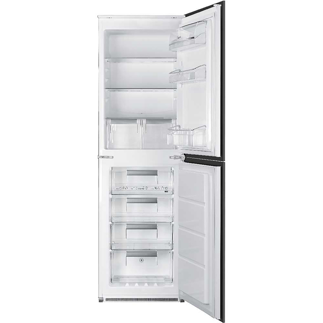 Smeg UKC7172NP Integrated 50/50 Frost Free Fridge Freezer with Sliding Door Fixing Kit - White - A+ Rated - UKC7172NP_WH - 1
