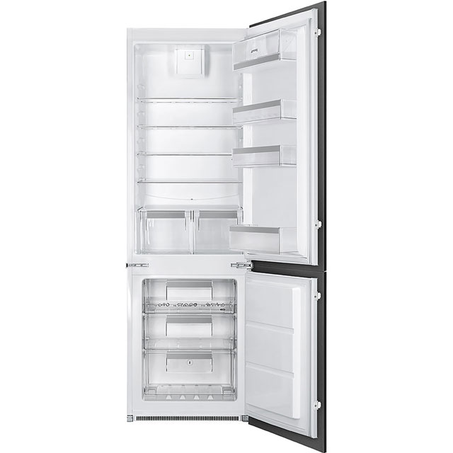 Smeg Integrated 70/30 Frost Free Fridge Freezer with Sliding Door Fixing Kit - White - A+ Rated