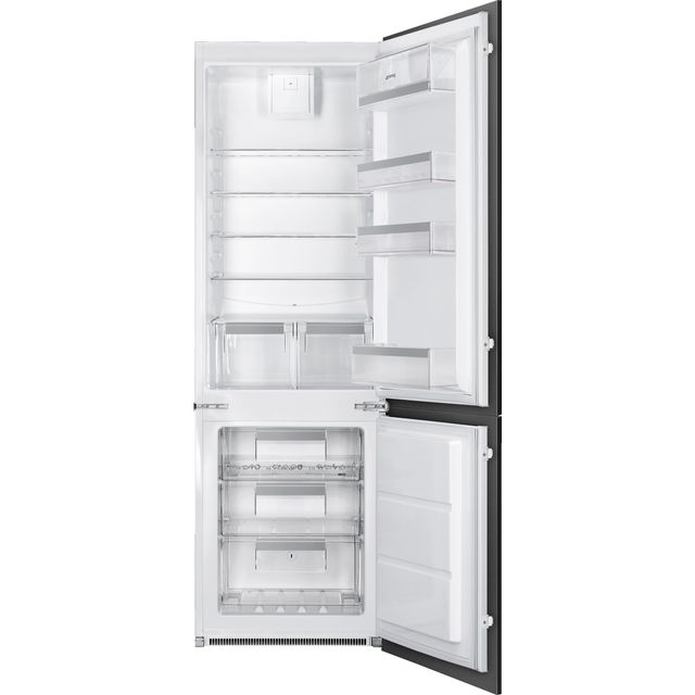 Smeg UKC7280NEP1AO Built In 70/30 Frost Free Fridge Freezer - White - UKC7280NEP1AO_WH - 1