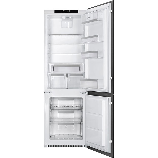 Smeg Integrated 70/30 Frost Free Fridge Freezer with Sliding Door Fixing Kit - White - A++ Rated