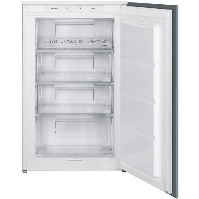 Smeg UKS3F0922P Integrated Upright Freezer with Sliding Door Fixing Kit - A++ Rated - UKS3F0922P_WH - 1