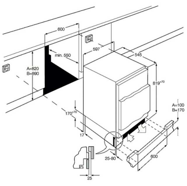 Smeg UKUD7108FSEP Integrated Under Counter Freezer £476