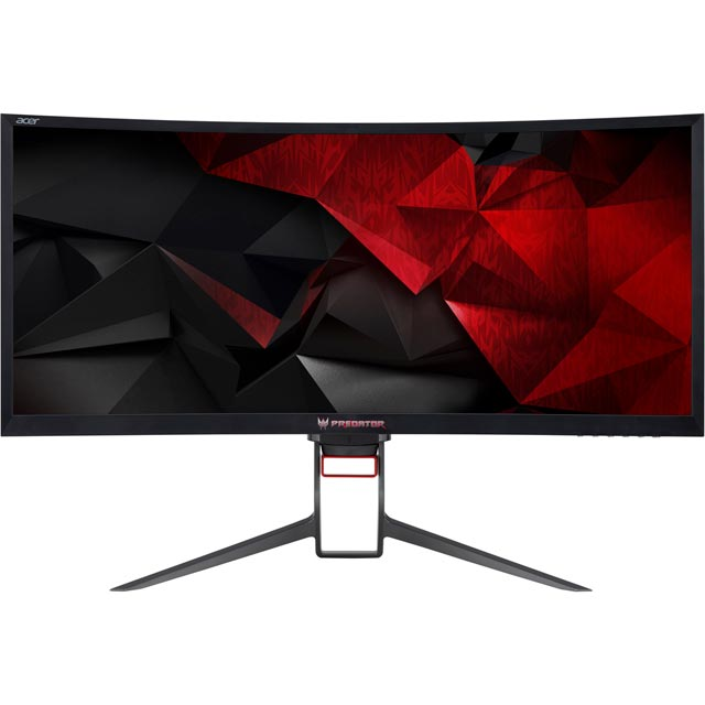 "Acer Predator Z35 Quad HD 35"" 100Hz Curved Gaming Monitor with NVidia G-Sync - Black - UM.CZ1EE.P01 - 1"