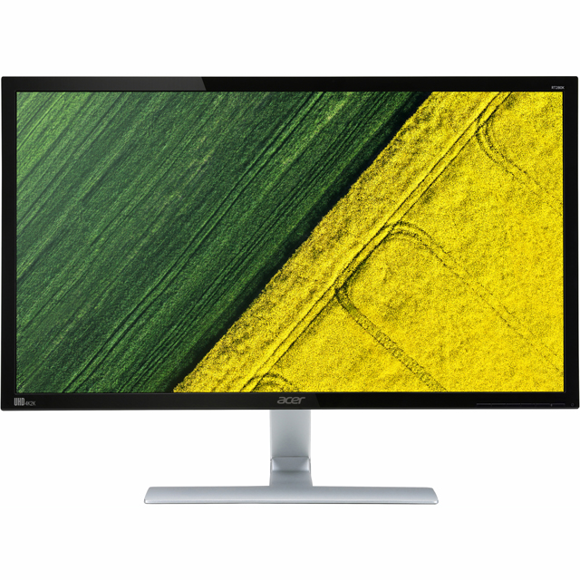 "Acer Ultra HD 28"" 60Hz Gaming Monitor with AMD FreeSync - Black / Silver - UM.PR0EE.A01 - 1"