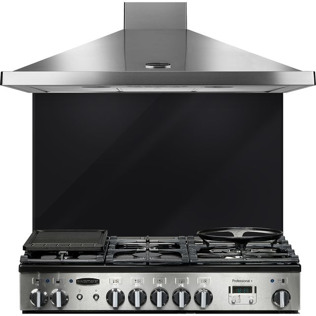 Rangemaster UNBSP1092BL Built In Splashbacks - Black - UNBSP1092BL_BK - 1