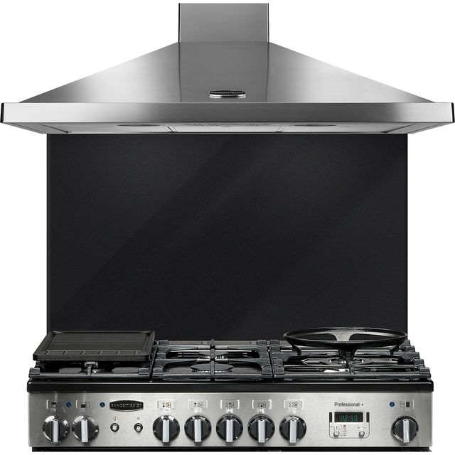 Rangemaster UNBSP899MB Built In Splashbacks - Metallic Black - UNBSP899MB_MB - 1