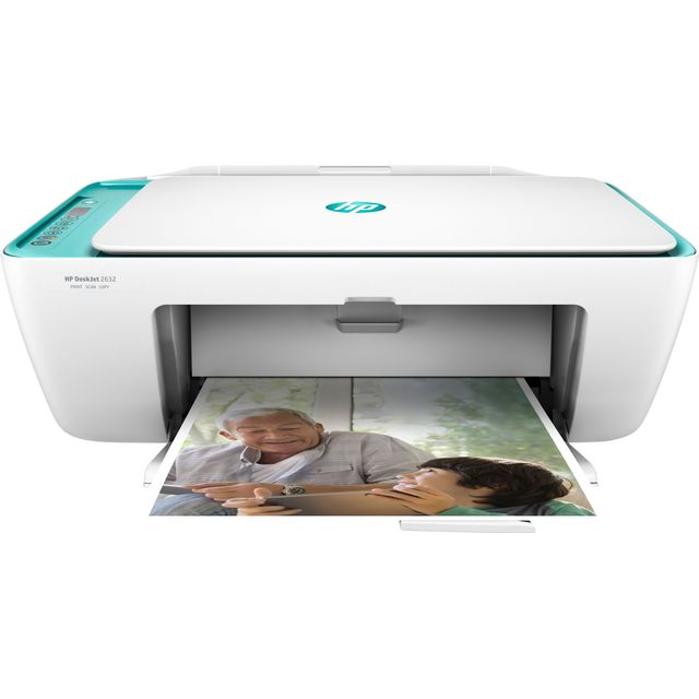 HP DeskJet 2632 V1N05B#BEV Printer in Dreamy Teal