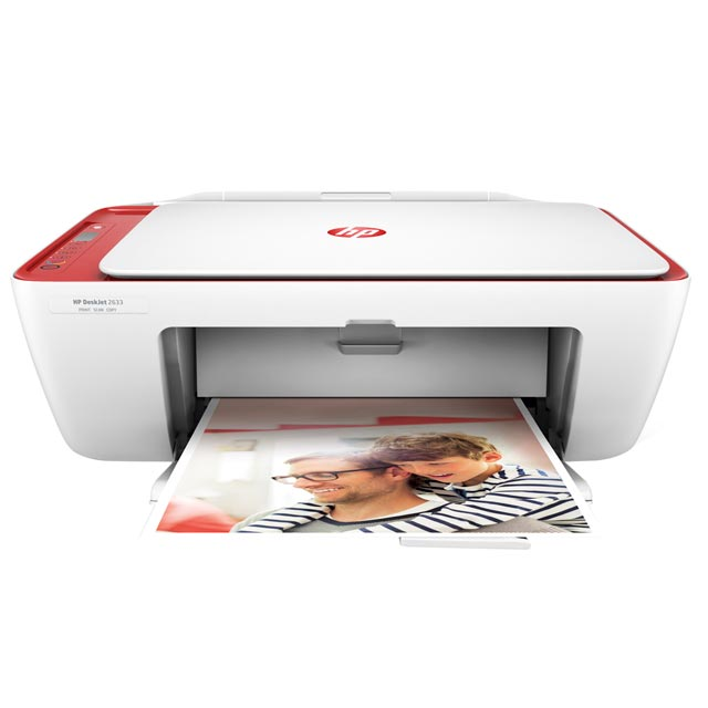 HP DeskJet 2633  V1N06B#BEV Printer in Cardinal Red