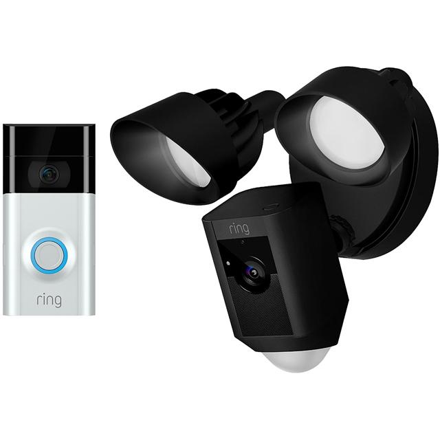 Ring Floodlight Surveillance Camera V2-FLOODBLK Smart Home Security Camera in Black
