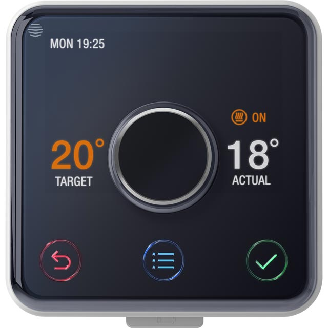 Hive Active Heating Only Smart Thermostat For Combi Boilers - Requires Professional Install - Black / Silver