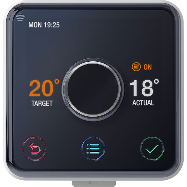 Hive Active Heating Smart Thermostat For Combi Boilers - Includes AO Installation - Black - V2HAHKITHEAT-01AO - 1