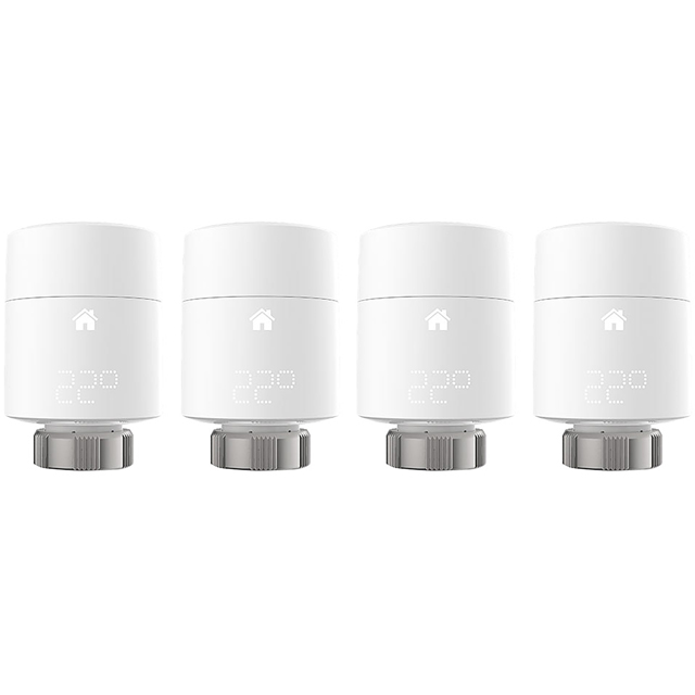 tado Smart Radiator Thermostat Vertical Quattro Pack V3P-4SRT01V-TC-ML Smart Radiator Valve - White - V3P-4SRT01V-TC-ML - 1
