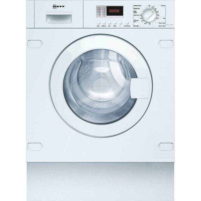 NEFF V6320X1GB Built In 7Kg / 4Kg Washer Dryer - White - V6320X1GB_WH - 1
