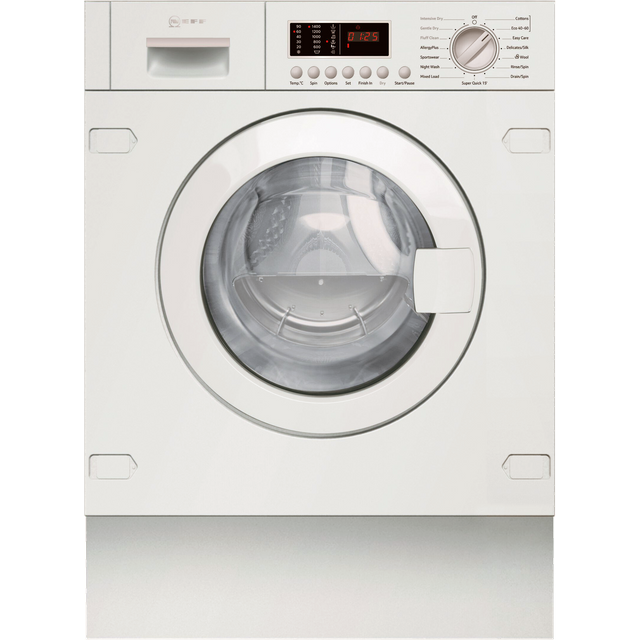 NEFF V6540X2GB Integrated 7Kg / 4Kg Washer Dryer with 1400 rpm - White - E Rated