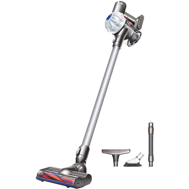 Dyson V6 Cord Free Cordless Vacuum Cleaner with up to 20 Minutes Run Time - Free Tool Kit Included