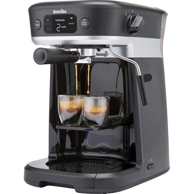 Image of Breville All-In-One VCF117 Espresso Coffee Machine - Black