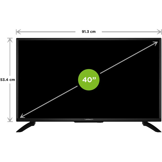 "Veltech VE40FO01UK 40"" TV - Black - VE40FO01UK - 2"