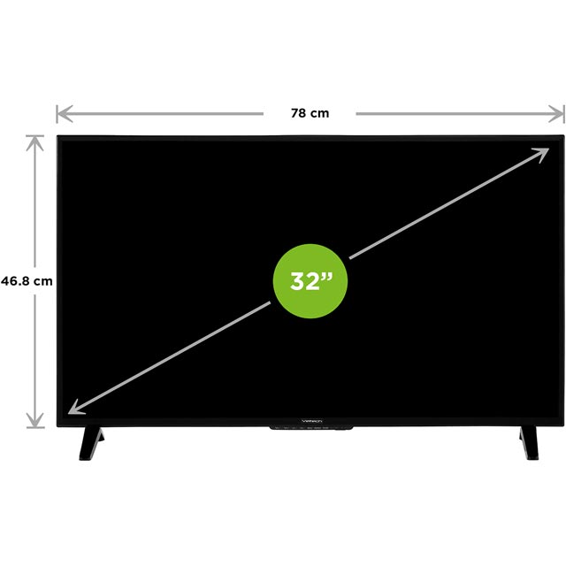 "Veltech VEL32FO01UK 32"" TV - Black - VEL32FO01UK - 2"