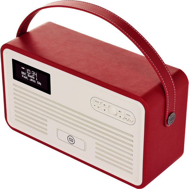 ViewQuest VQ-RETROMKII-RD Digital Radio in Red