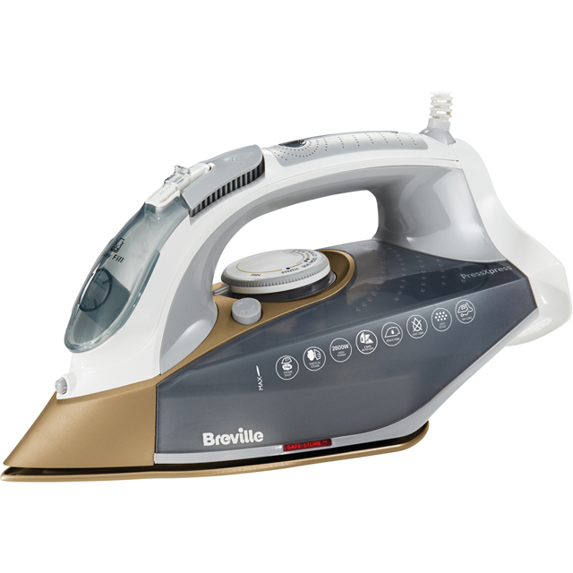 Breville PressXpress 2600W VIN406 2600 Watt Iron -Grey / Gold - VIN406_GYG - 1