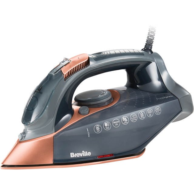 Breville PressXpress 2800W VIN407 2800 Watt Iron -Grey / Rose Gold - VIN407_GRG - 1