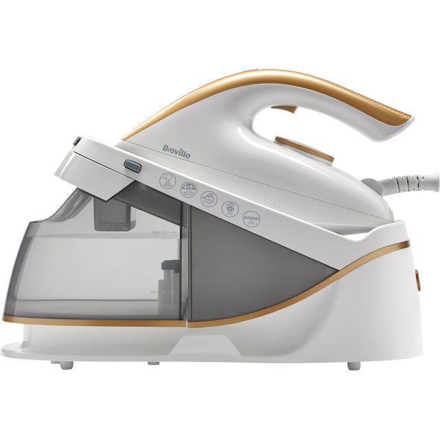 Breville PressXpress VIN410 Pressurised Steam Generator Iron - White / Gold