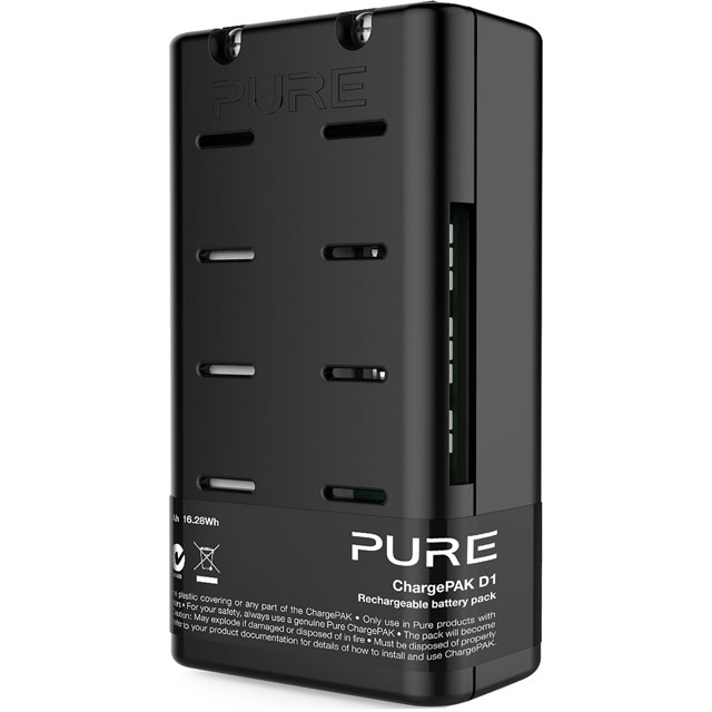 Pure ChargePAK D1 VL-62692 Digital Radio in Black