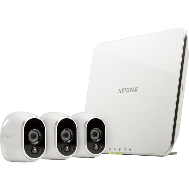 Arlo Smart Weatherproof Security System - 3 Cameras - White