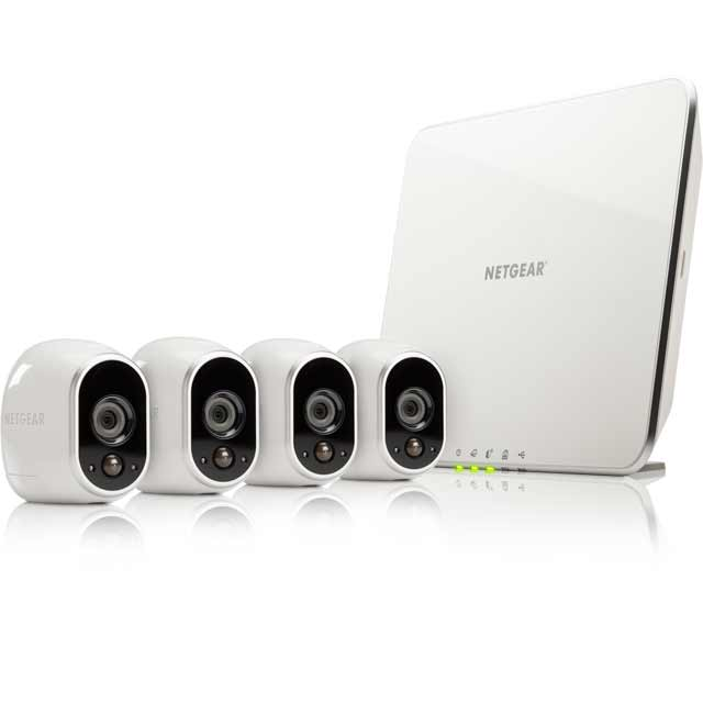 Arlo Smart Weatherproof Security System with 4 Cameras - White