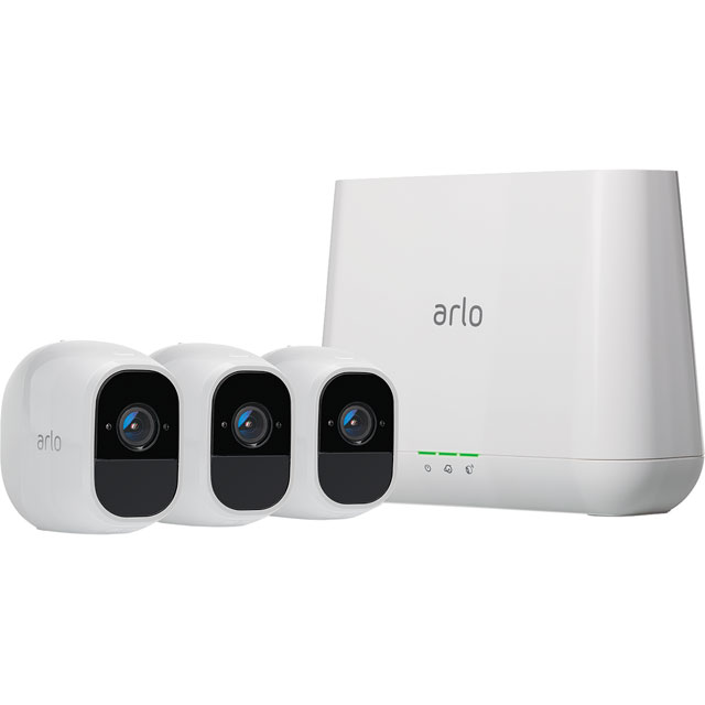 Arlo Pro 2 Smart Weatherproof Security System with 3 Cameras - Full HD 1080p - White - VMS4330P-100EUS - 1