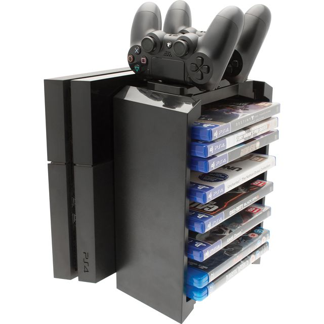 Venom Games Storage & Twin Charger For PlayStation 4 - Black