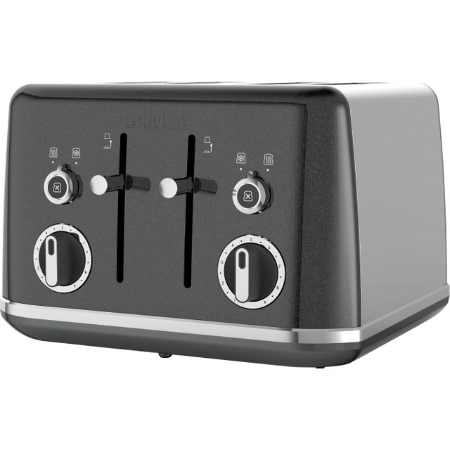 Breville Lustra VTT853 4 Slice Toaster - Storm Grey