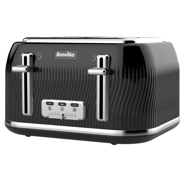 Breville Flow Collection VTT890 4 Slice Toaster - Black - VTT890_BK - 1