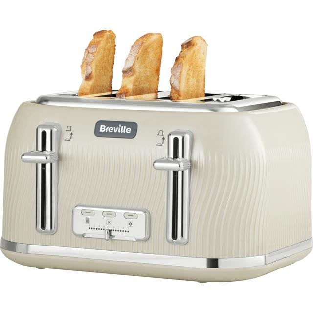 Breville Flow Collection 4 Slice Toaster - Cream