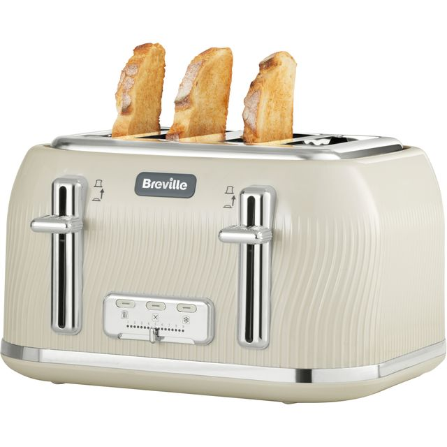 Breville Flow Collection VTT891 4 Slice Toaster - Cream