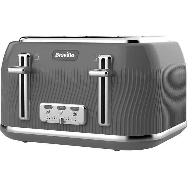 Breville Flow Collection 4 Slice Toaster - Grey