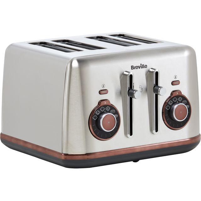 Breville Selecta VTT953 4 Slice Toaster - Brushed Stainless Steel