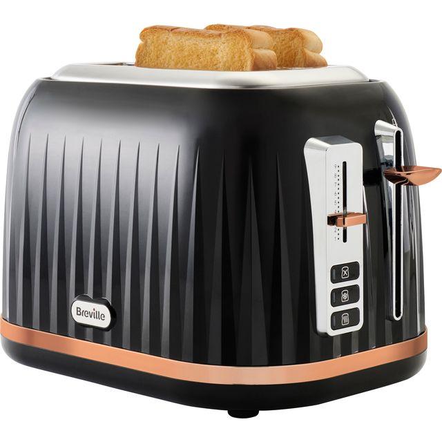 Breville Impressions Collection VTT957 2 Slice Toaster - Black / Rose Gold