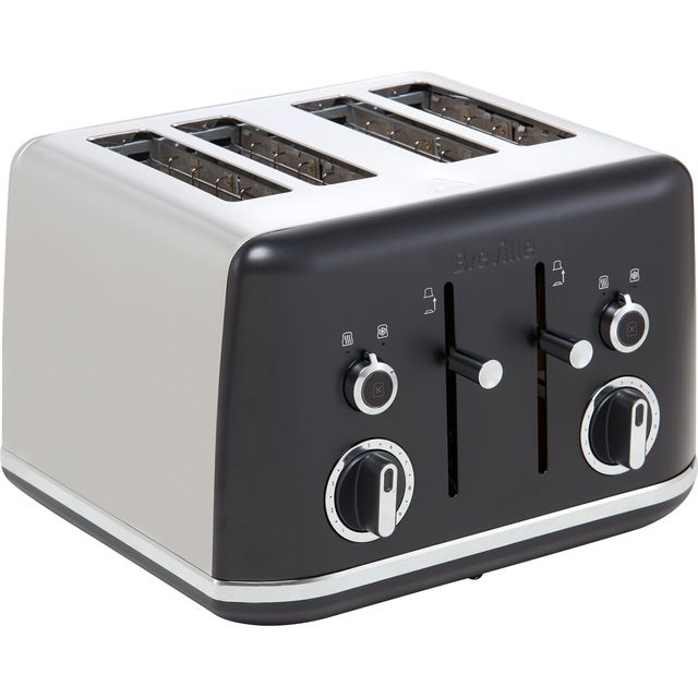 Breville Lustra Collection VTT969 4 Slice Toaster - Matte Black