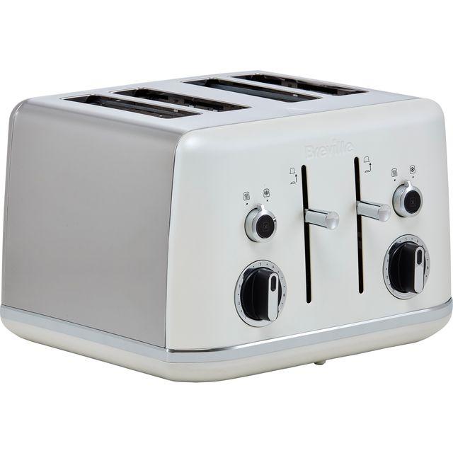 Breville Lustra Collection VTT970 4 Slice Toaster - Matte White