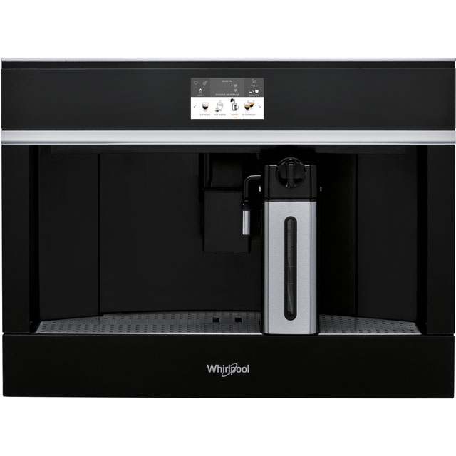 Whirlpool W Collection W11CM145 Built In Bean to Cup Coffee Machine - Black - W11CM145_BK - 1