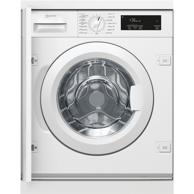 NEFF W543BX1GB Integrated 8Kg Washing Machine with 1400 rpm - White - A+++ Rated