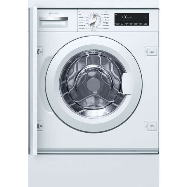 NEFF W544BX0GB Integrated 8Kg Washing Machine with 1400 rpm - A+++ Rated - W544BX0GB_WH - 1