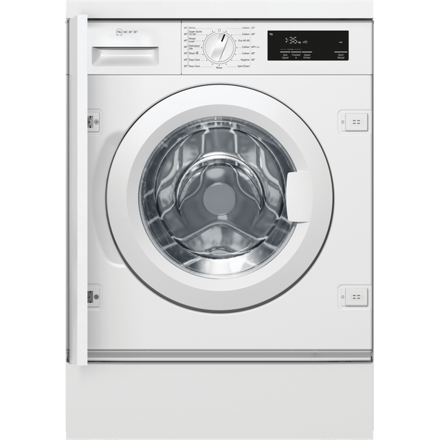 NEFF W544BX1GB Built In 8Kg Washing Machine - White - W544BX1GB_WH - 1