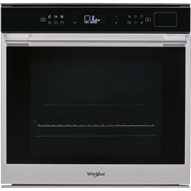 Whirlpool W Collection W7OS44S1P Built In Electric Single Oven with added Steam Function - Stainless Steel - A+ Rated - W7OS44S1P_SS - 1